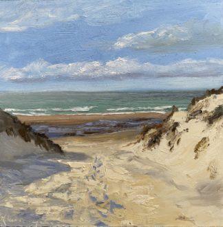 Duinen, Haamstede, Zeeland, zeegezicht, strandgezicht, Heleen van Lynden, olieverfschilderij