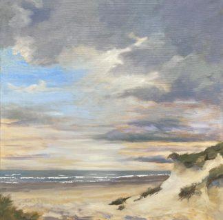 duin, zeegezicht, strandgezicht, na de storm, Olieverfschilderij,