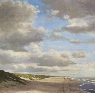 Wassenaarseslag , beach, sea, duinen, dunes, strand, zee, olieverfschilderij, Heleen van Lynden