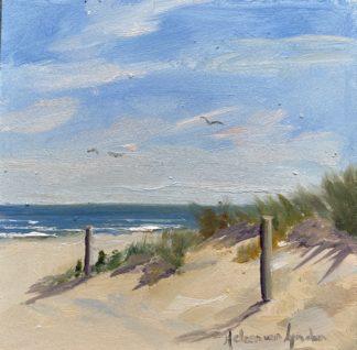 beachentrance, seascape, seascapepainting, oilpaintingartist, paintingseascapes, oilpaintings landscapeart oillandscape, impressionist, onthebeach, sea, zeegezicht, pleinair, pleinairpainting, kunst, heleenvanlynden, heleensoilpaintings.com